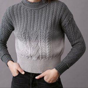 Anthropologie Marci Dip-Dyed Cable Sweater